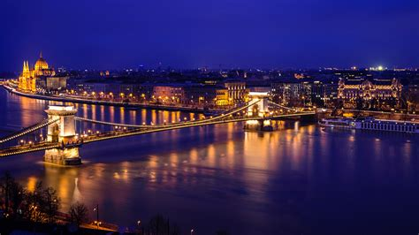 Danube River Hungarian Parliament Budapest Wallpapers   HD