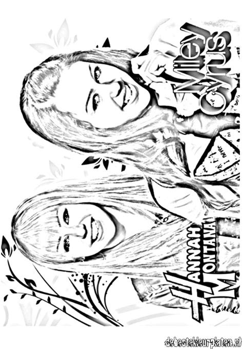 Hannah-Montana10 - Printable coloring pages