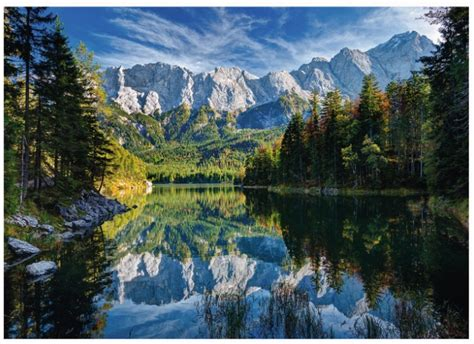 Puzzle Germany, Eibsee Lake Ravensburger-19367 1000 pieces