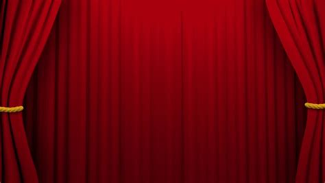 Curtains Opening and Closing Stage Stock Footage Video