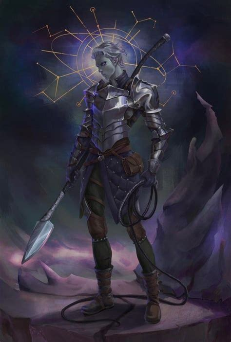 [RF] Yig, Hexblade/Fighter Changeling : characterdrawing