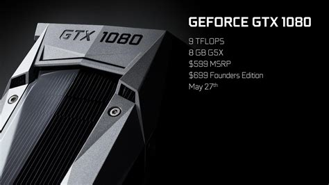 NVIDIA GeForce GTX 1080 Graphics Card Unleashed - $599 US