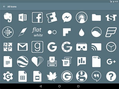 Flat White Icon Pack » Apk Thing - Android Apps Free Download