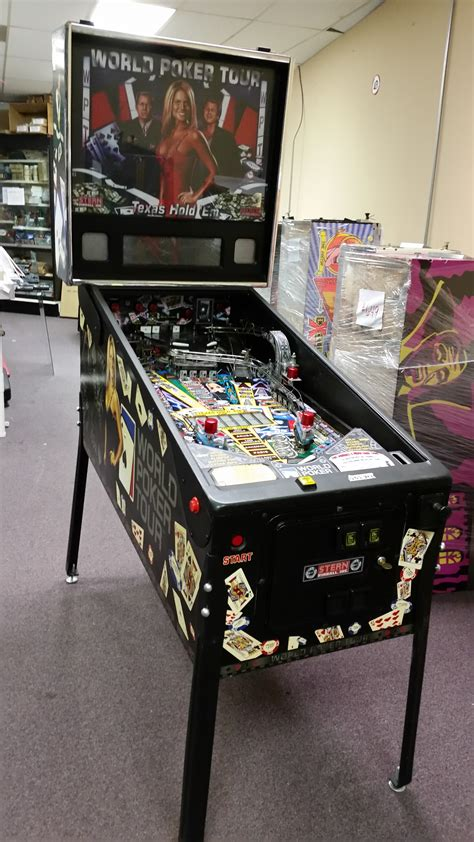 WORLD POKER TOUR Pinball Machine Game for sale by STERN