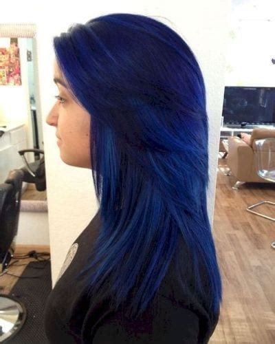30 Black Blue Hair Ideas for Mistresses of the Night | All