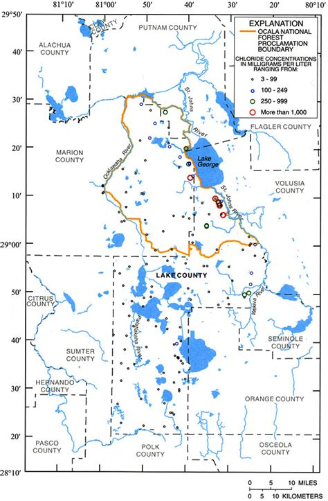 Concentrations of Chloride in Groundwater from the Upper