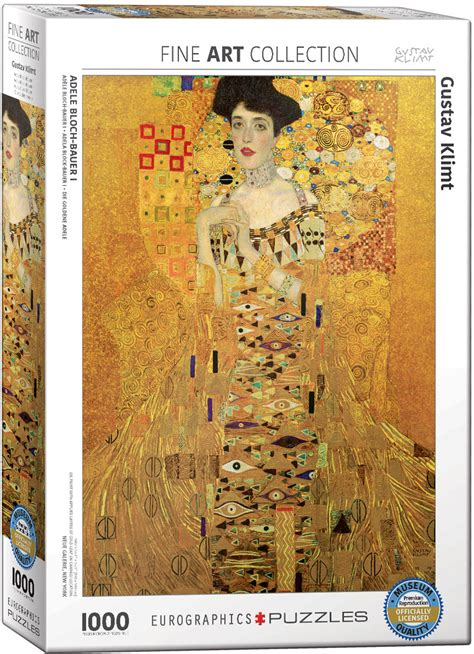 Portrait of Adele Bloch-Bauer I, 1907, Jigsaw Puzzle by