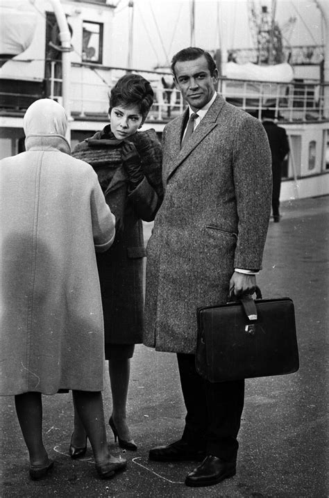 Sean Connery with Gina Lollobrigida on the set of WOMAN OF
