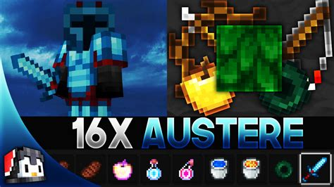 Austere [16x] MCPE PvP Texture Pack (FPS Friendly) - Gamertise