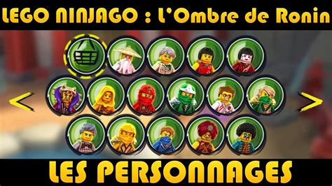 LEGO Ninjago : Les Personnages / Characters - YouTube