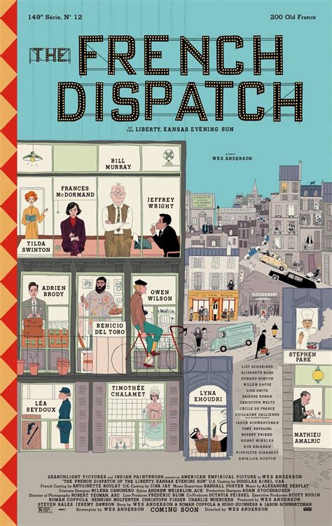 Wes Anderson's The French Dispatch Gets First Illustrated