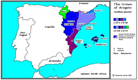 Aragon within Spain; structure, c