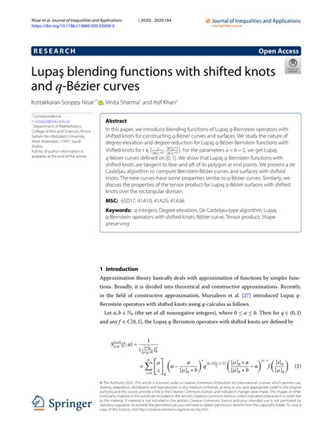 (PDF) Lupaş blending functions with shifted knots and q