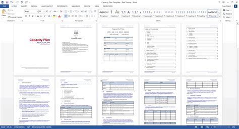 Capacity Plan Template (MS Word) – Templates, Forms